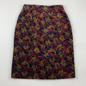 PETITE Talbots Velvet High Waist Pencil Skirt 8P
